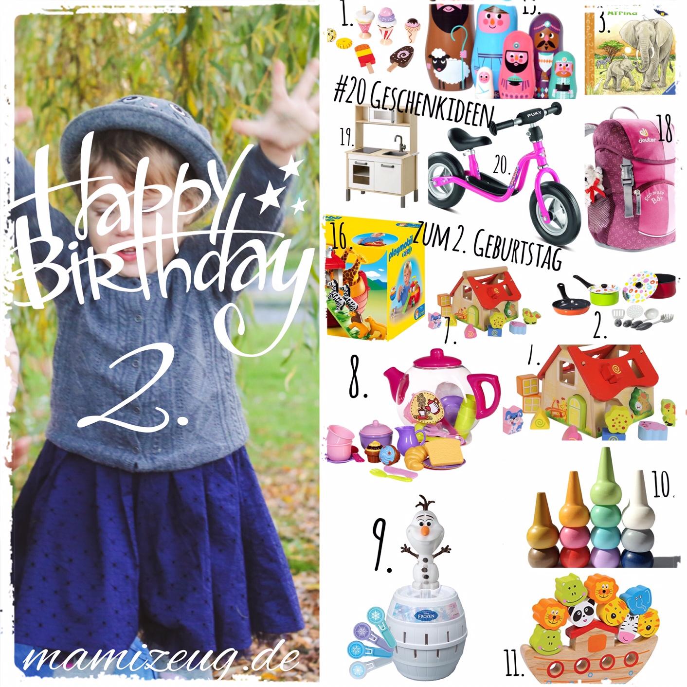 Die Top 20 Geschenke zum 2. Geburtstag - mamizeug.de - Mama ...