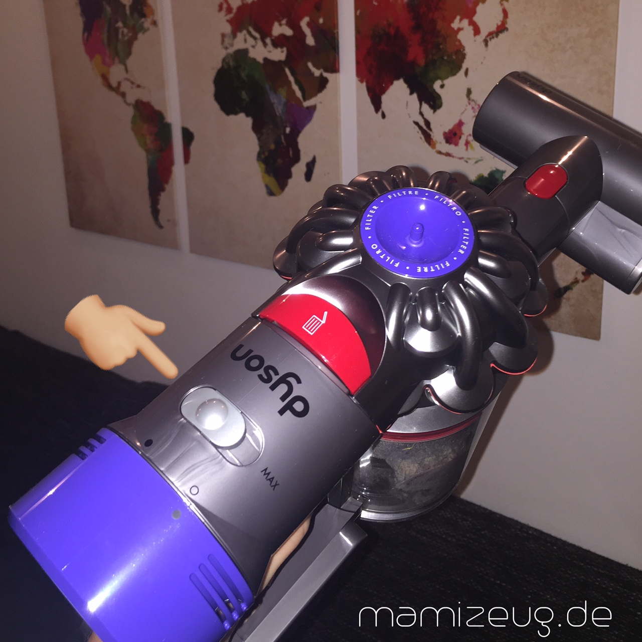 dyson akkusauger v8 absolute im test mama lifestyle blog. Black Bedroom Furniture Sets. Home Design Ideas