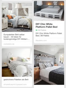 Ideen für Betten aus Paletten_pinterest
