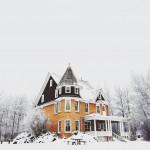 zu Hause im Winter
