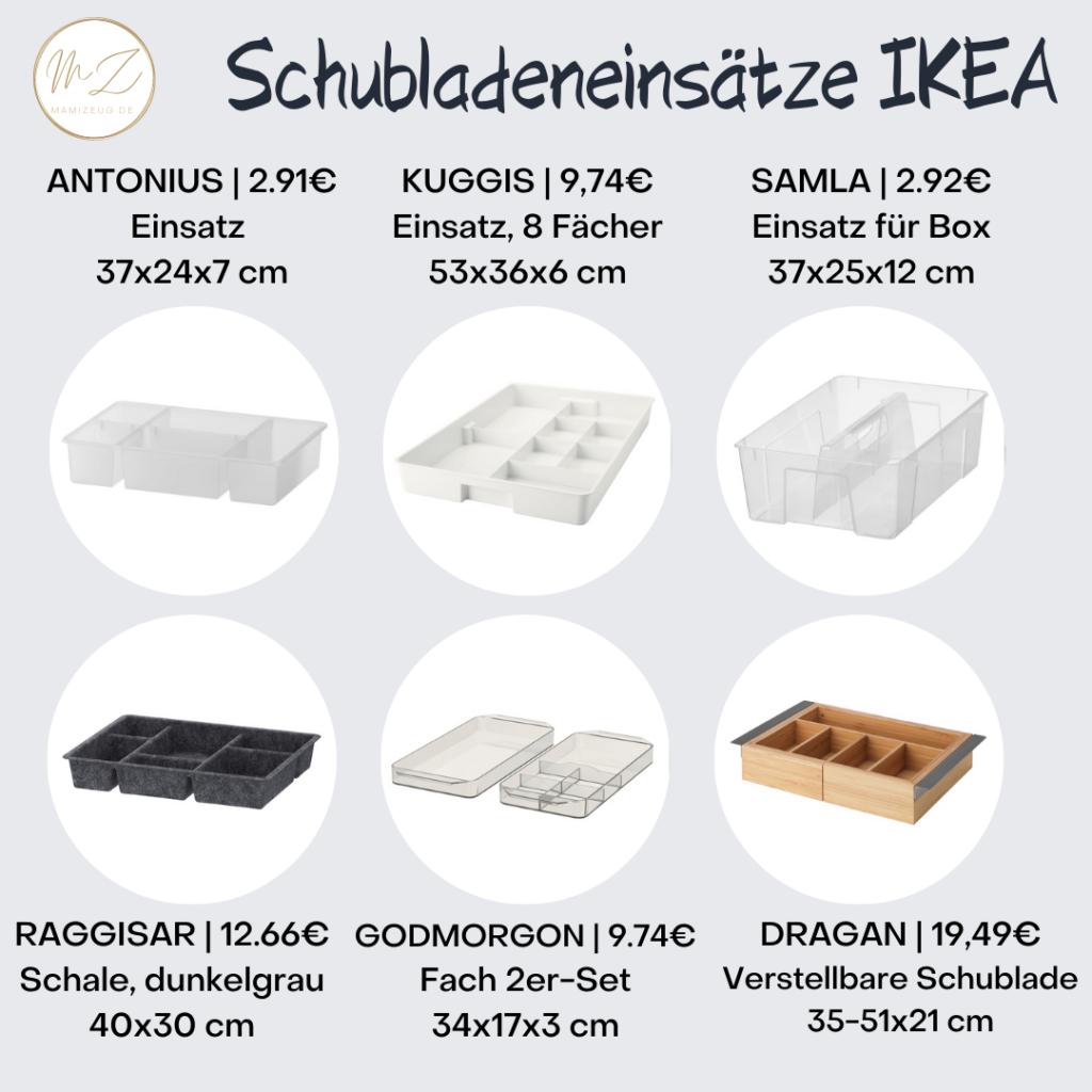 Schubladeneinsätze von Ikea