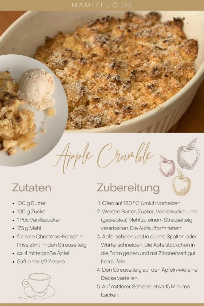 Super schnelles und einfaches Rezept für Apple Crumble