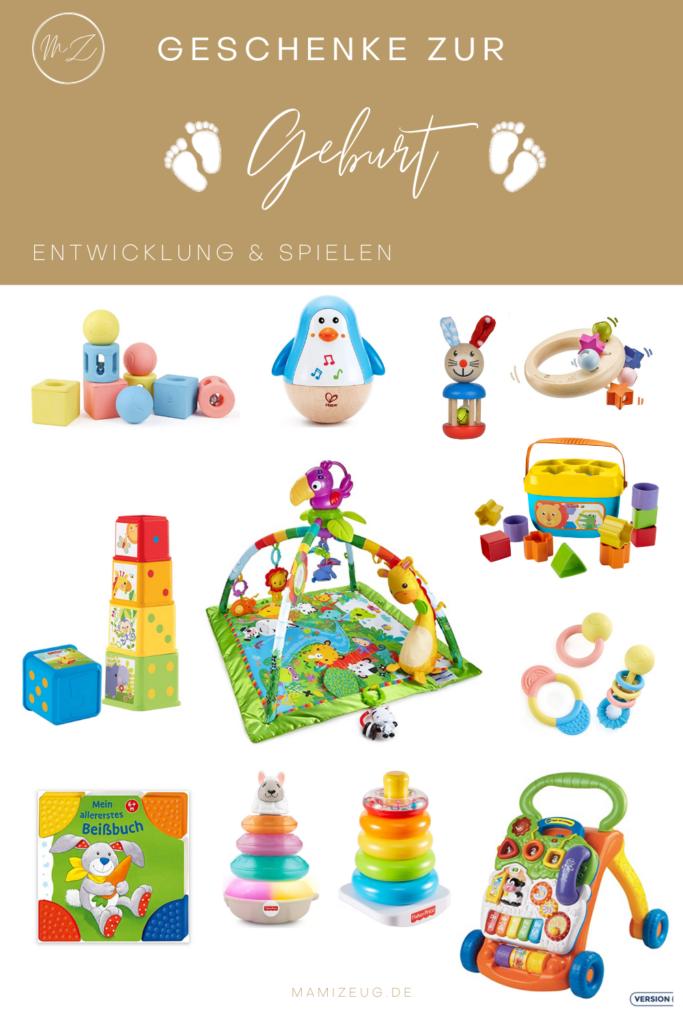Geschenkideen zur Geburt Entwicklung und Spielen