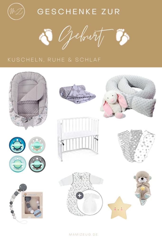 Schöne und praktische Geschenke zur Geburt rund um Kuscheln, Ruhe, Schlaf