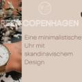 Minimalistische Uhr skandinavisches Design